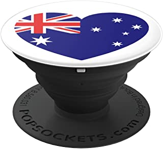 I Love Australia Australian Flag Heart PopSockets Grip and Stand for Phones and Tablets