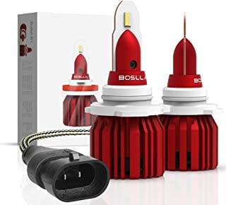 9006(HB4) LED Headlight Bulbs, Boslla Minimal All-in-One Conversion Kit-Low Beam Extremely Bright Flip Chips 60W 7200lm 6500K Cool White,1 Yr Warranty