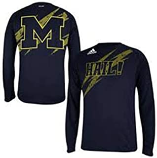 adidas Michigan Wolverines Youth Long Sleeve Climalite Performance Shirt