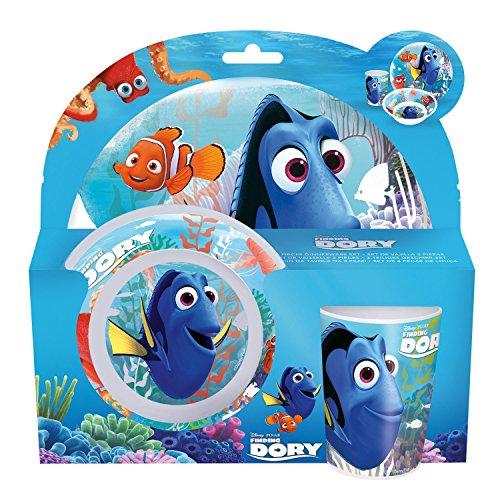 p:os 25320 Disney Pixar Findet Dorie ontbijtset, bord, kom en beker, 3-delig