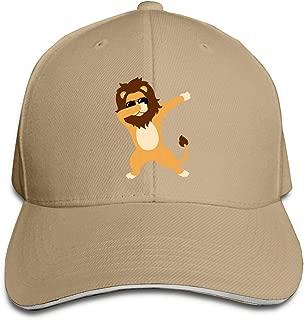 Dabbing Lion with Sunglasses Baseball Cap Adjustable Peaked Sandwich Hats