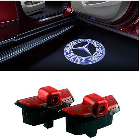 Defov Türbeleuchtung Einstiegsleuchte Autotür Licht 3d Logo Benz C Blue Logo Auto