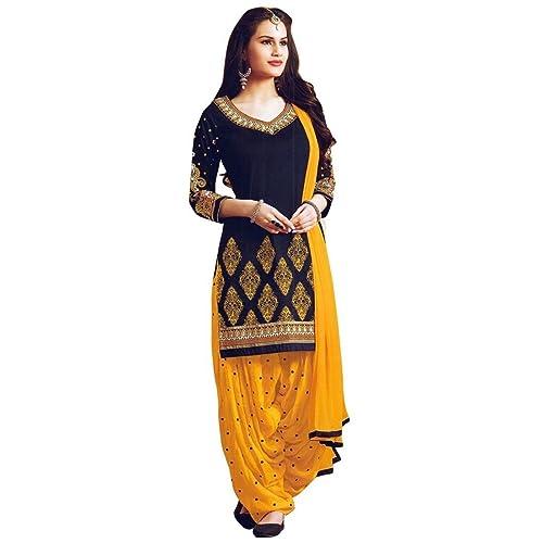 b80c3ab4bb Ready Made Patiala Salwar Embroidered Cotton Salwar Kameez Suit India