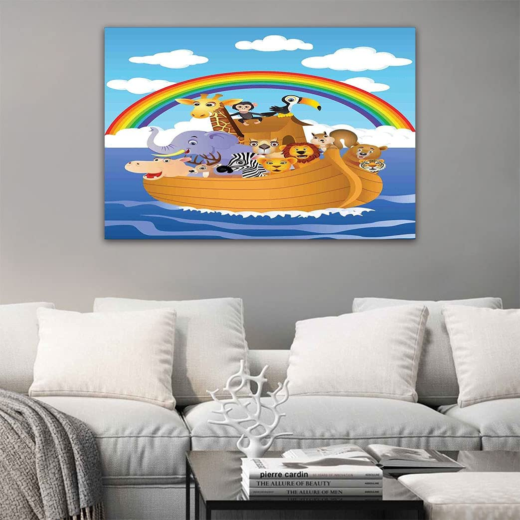 Cartoon cheap Canvas Print Picture Style Portland Mall T Group of in Animals