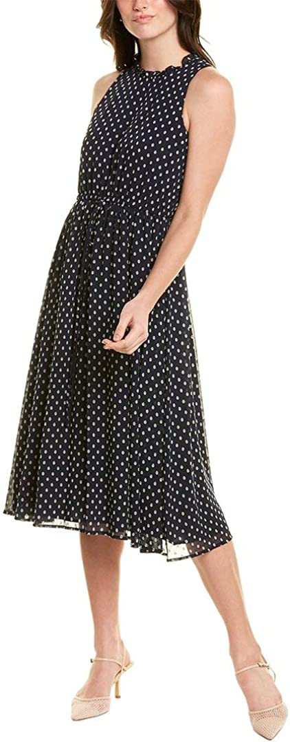 Maggy London Women's Novelty Clip Dot Sleeveless Fit and Flare