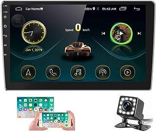 Radio de Coche Android 2 DIN GPS CAMECHO Pantalla táctil de 10 Pulgadas en el Tablero Estéreo para Automóvil Bluetooth FM ...