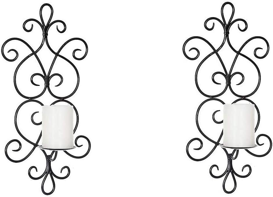 Decorative Attention brand Iron Vertical Candle Holder Sconce High quality Wall