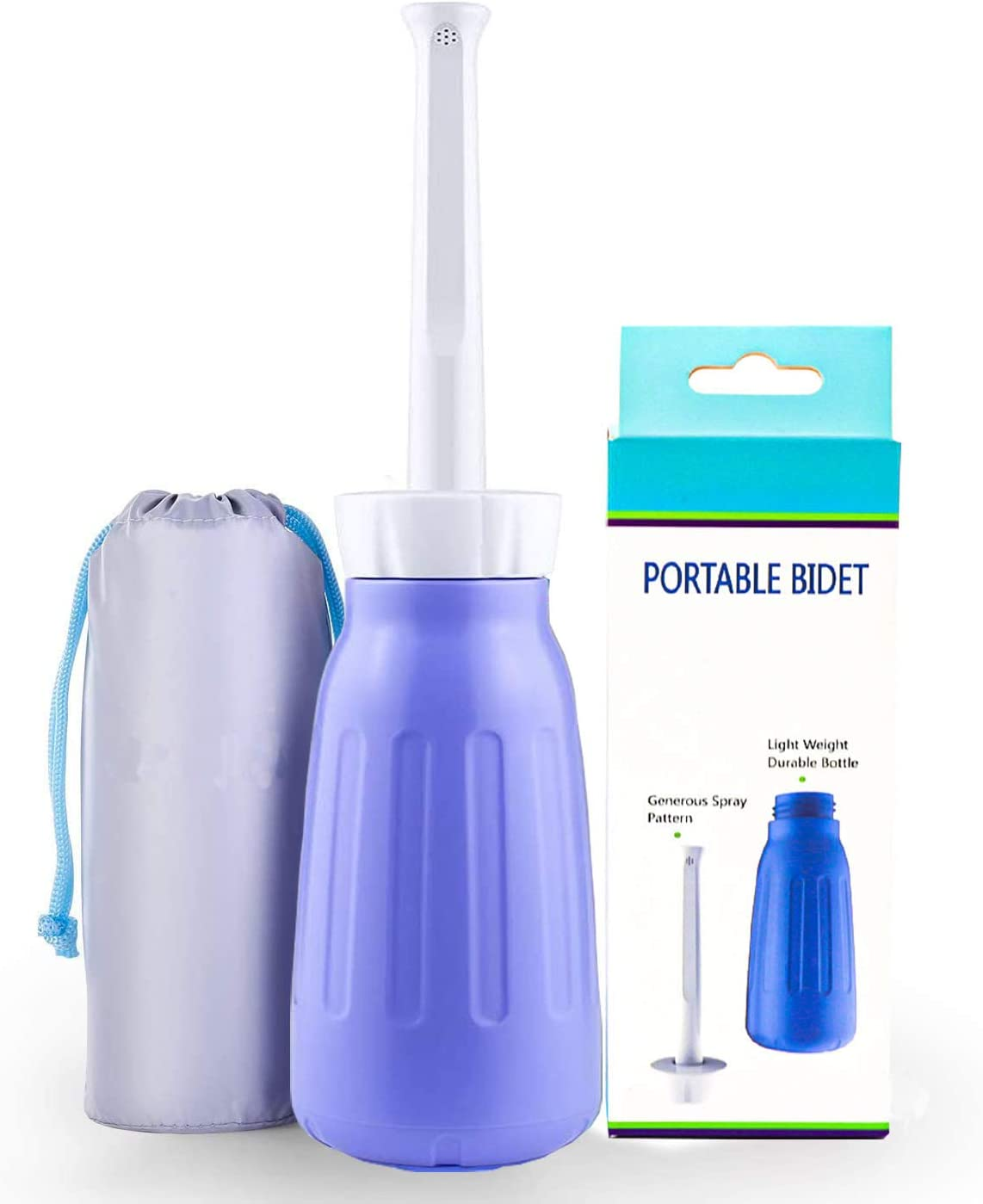 Portable Bidet 400ml Peri Bottle Postpartum Travel Bidet Bottle Partum Essentials with Telescoping Nozzle for Postpartum with Storage Bag Peri Bottle