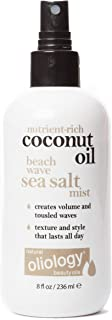 Oliology Coconut Oil Beach Wave Sea Salt Mist Spray - Creates Volume and Tousled Waves | Texture and Style that Lasts All Day (8 Oz)