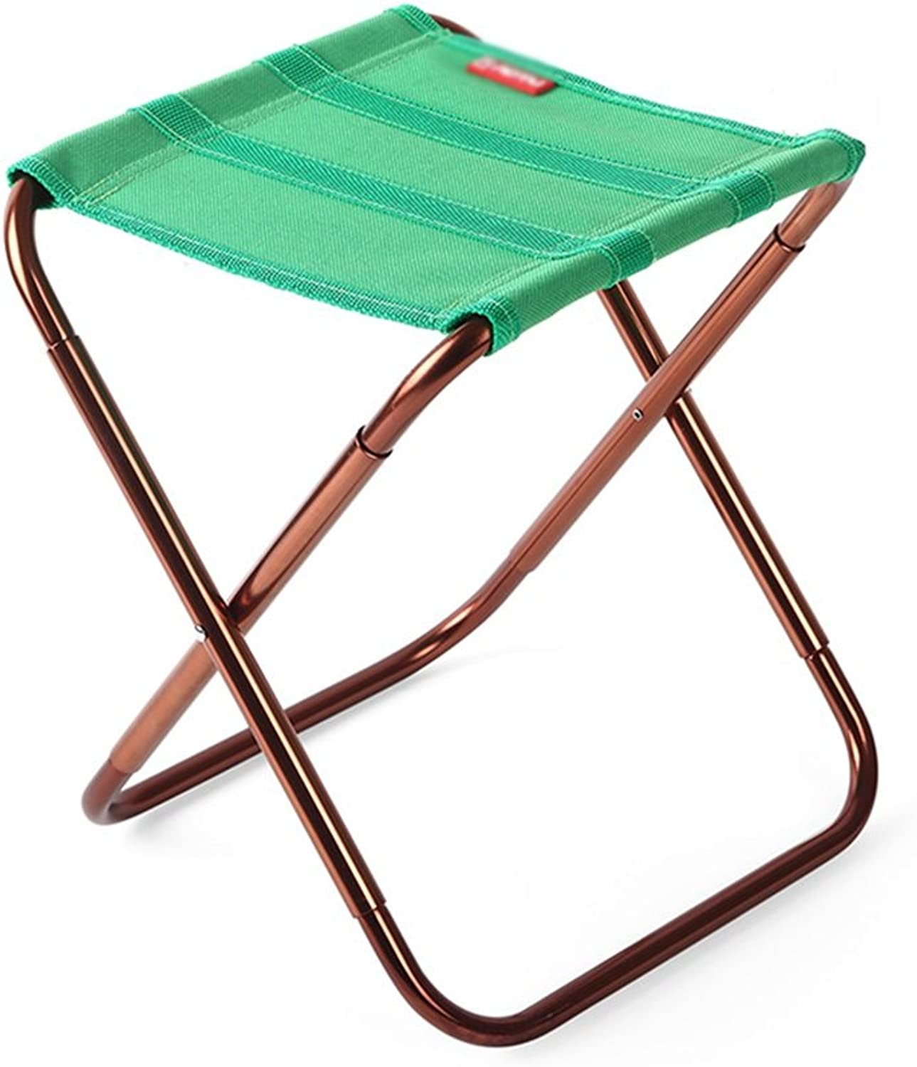 Chair Folding Stool Portable Outdoor Folding Chair Fishing fine Arts Chair Adult Small Mazar (color   Green, Size   222328 cm)