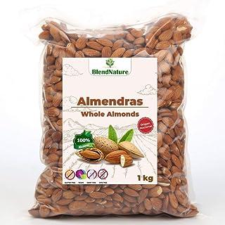 Almendras Crudas Peladas 1kg – Sin Sal Con Piel - 100% Natural y Entera -
