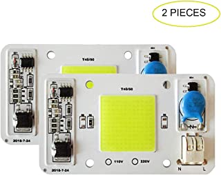 2PCS LED COB Chip 50W 110V White Light Engine Integrated Smart IC Driver Free Solder for LED Floodlight Ceiling Light etc