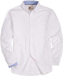 Mens Casual Button Down Plaid Shirt Long Sleeve Cotton Modern Fit Dress Shirts