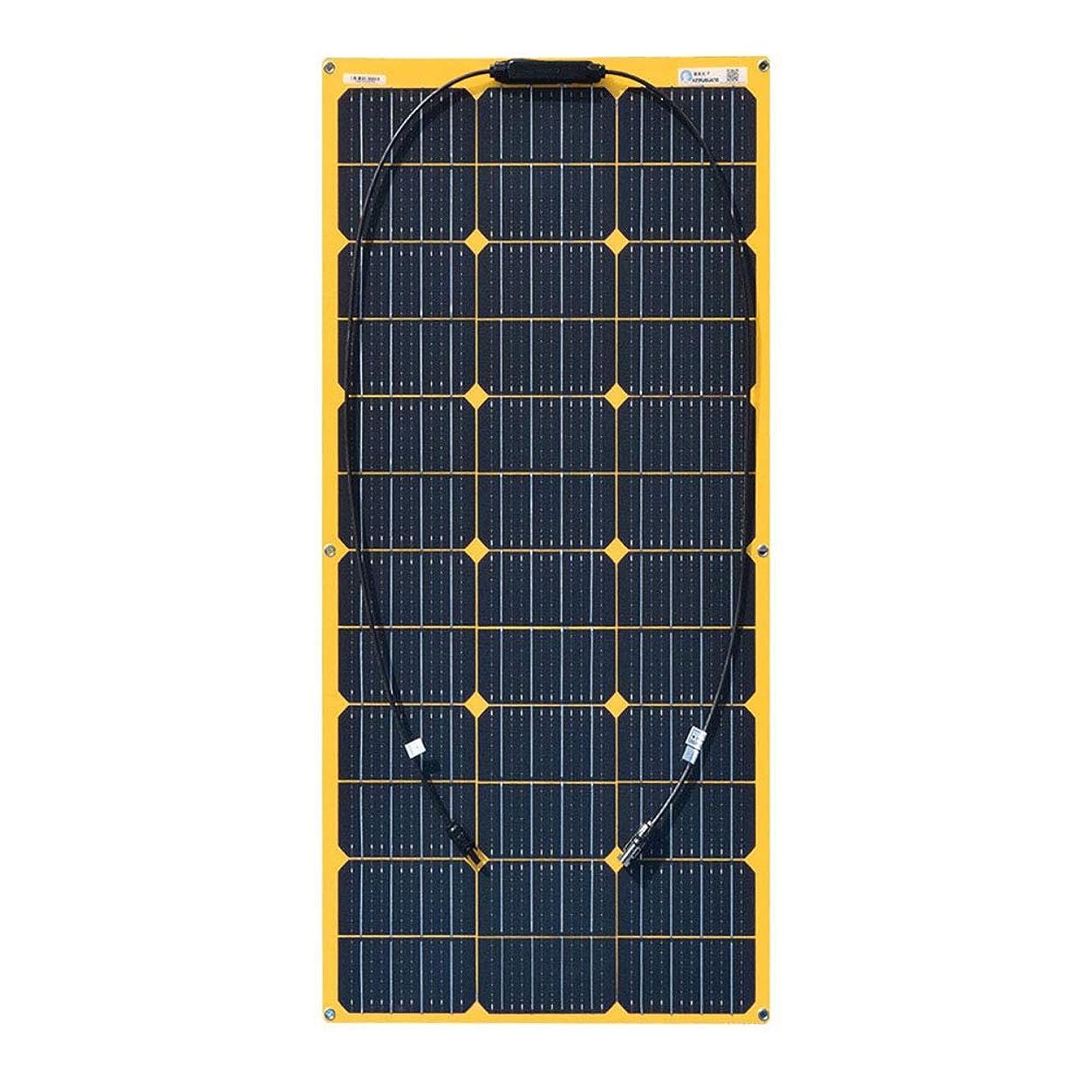 クールセマフォ各100ワット18ボルト多結晶ソーラースターターキット充電コントローラ、RV車、トレーラー、ボート、物置、そしてキャビンつや消しPETイエローバックシート太陽光発電パネル用ブラケット