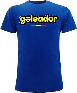 Sabor srl Camiseta Goleador Original Caramelle Gommose Azul Royal Adulto Niño y Niño