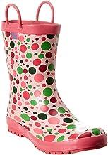 Pluie Pluie Little Girls Pink Candy Dot Rain Boots 4