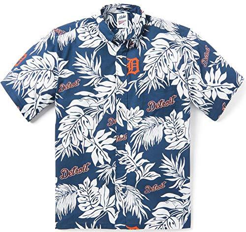 Reyn Spooner Detroit Tigers Aloha X-Large Cotton Navy MLB Hawaiian Shirt