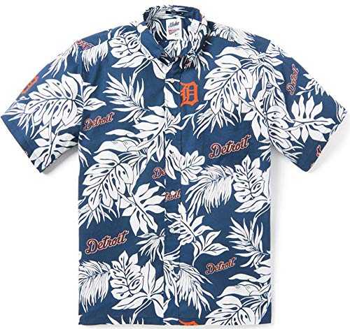 Reyn Spooner Detroit Tigers Aloha X-Large Cotton Navy MLB Hawaiian Shirt