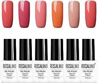 ROSALIND serie nude color gel semipermanente esmalte de uñas Soak Off UV LED diseño de dedo 6pcs 7ml