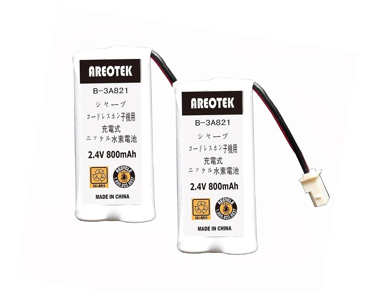 アナロジー分離期待して【大容量/通話時間UP】Sharp シャープ コードレスホン子機用充電池 M-003同等品 UX-Y303CW / UBATM0030AFZZ / HHR-T406 / BK-T406 互換 (2個)