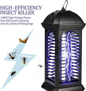 Innoo Tech Bug Zapper, Mosquito Killer 2020 Upgrade Portable Insect Killer with 1000V Power Grid Electronic Insect Trap Light for Indoor&Outdoor, Bedroom,Kitchen,Office, Garden, Backyard