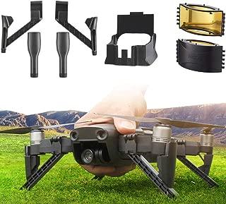 YANSHON 3 in 1DJI Mavic Air Accessories, Mavic Air Lens Hood Sun Shade Drone Signal Booster DJI Mavic Air Landing Gear Extension Feet Leg Extenders