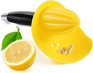 VANANSA Lemon Squeezer with Seed Catcher, 3 in 1 Citrus Tool - Lemon Zester, Channel Knife, Citrus Reamer, Grater with Sof...