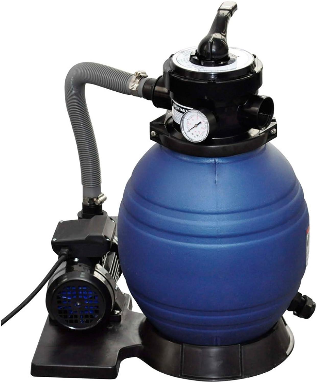 VidaXL Sand Filter Pump 400 W 11000 l h Swimming Pool Pond Water Cleaning