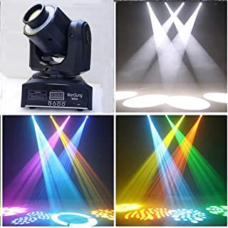 Wonsung 50W Moving Head Light 8 colors and 8 gobos Spot Light led sound activated professional Stage Light for Disco KTV club party wedding