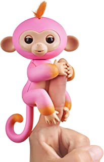 Fingerlings 2Tone Monkey - Interactive Baby Pet Summer (Pink with Orange Accents)