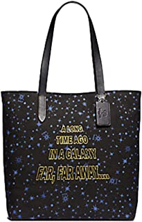 Star Wars X Coach Tote Shoulder Handbag Purse in Printed Canvas with Starry and Scroll Print F88038
