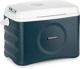 Klarstein BeerBelly 21 Elektrische Kühlbox - 21 L, 3 Anschlüsse: 230V, 12V Anschluss für Zigarettenanzünder & USB-Anschluss, Tragbar, Kühl- und Warmhaltefunktion, Auto, LKW, Camping, Steckdose, blau