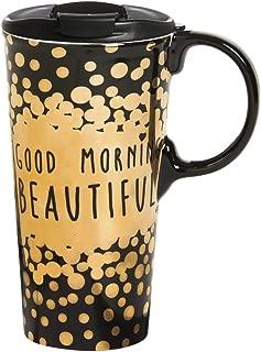 Cypress Home Good Morning Beautiful 17 Oz Ceramic Travel Coffee Mug