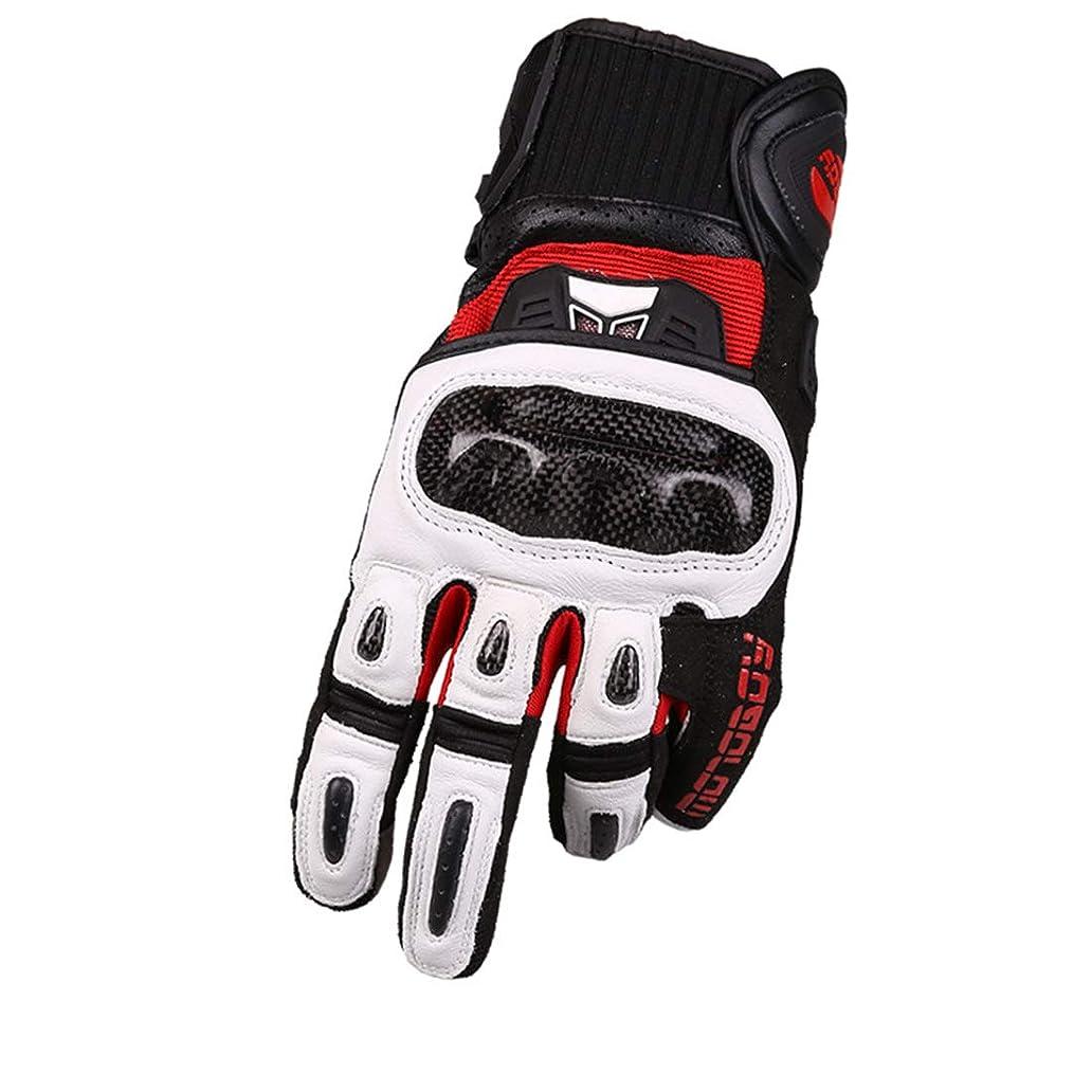 見込み悲しむラボLonglong カーボンファイバーオートバイフルフィンガーrBiking Glovesサイクリングレーシングハイキング (色 : ホワイト, サイズ : XL)