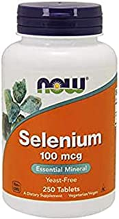 Now Foods, Selenium, Yeast Free, 100 mcg, 250 Tablets