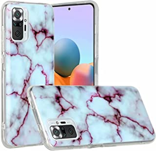Miagon Marble Case for Xiaomi Redmi Note 10 Pro,Slim Thin Glossy Soft TPU Rubber Gel Cute Women Girls Man Phone Case Cove...