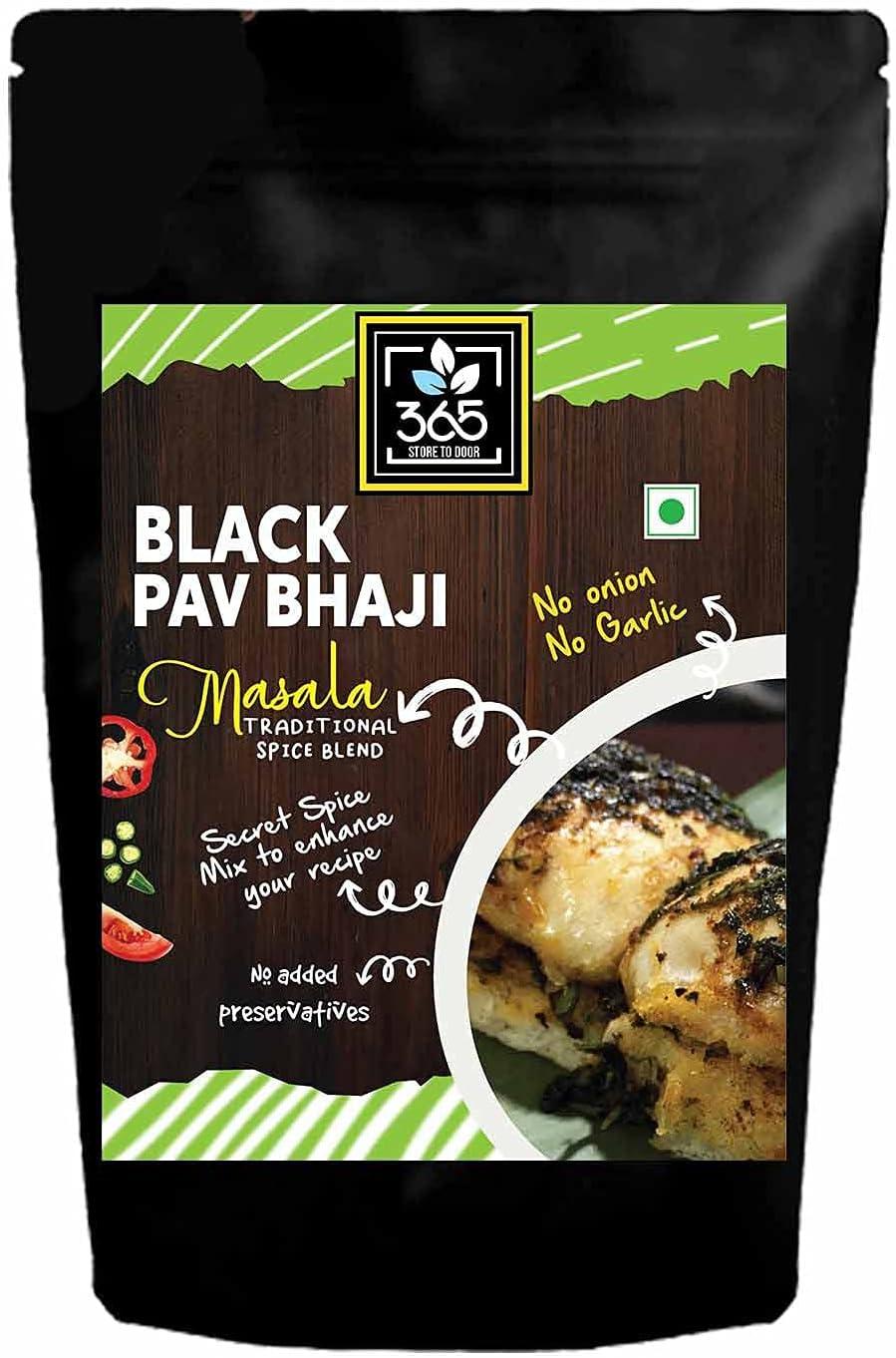 Bluenile 365 STORE TO DOOR Indian Spice Popular shop is the lowest Reservation price challenge M Jain - Bhaji Black Pav