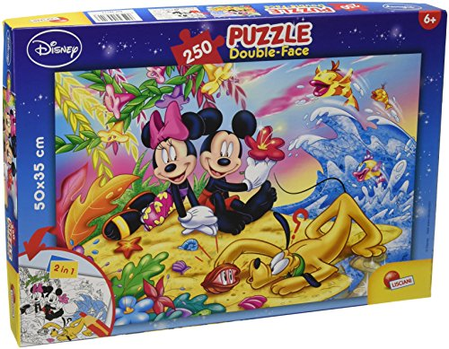 Lisciani Giochi-Disney: Mickey Mouse on The Beach Puzzle, 250 Pezzi, Multicolore, 48113