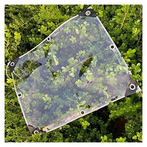 JIANFEI Tarp Transparent Heavy Duty Thick Waterproof, Window Protection Cover Insulation Rain Shelter, Outdoor PVC Soft Weatherproof Canopy, 500g/㎡ 0.5MM Customizable