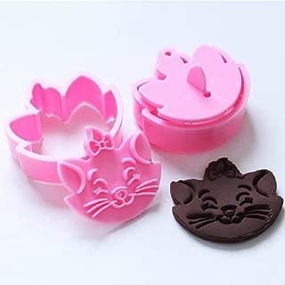 2 pcs DIY Fun Lovely Cat Marie Cartoon Fondant Baking Cake Cookie Cutter Mold Mould