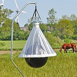 Capture 95 % des taons ; Zone d'efficacité maximale de 10 000 m² Méthode respectueuse de l'environnement, sans produit toxique Assemblage facile ; Tarière intégrée Cadre galvanisé à chaud avec des parois de 20 mm d'épaisseur Hauteur : environ 2,20 m ...