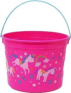 Pink Magical Unicorn Halloween Bucket Easter Basket Birthday Bucket Candy Bag (1 - Bright Pink)