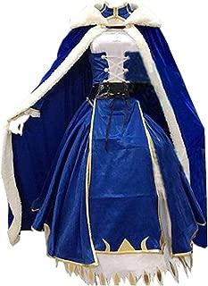 Artoria Pendragon Saber Cosplay Fate Stay Night UBW Fate Zero Sword Cosplay Costume with Cloak