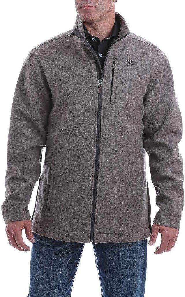Cinch Apparel Mens Brown Wool Blend Jacket