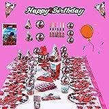 145 Pcs Miraculous Ladybug Birthday Party Supplies Decorations Favors Set Ladybug Superhero Girl Kids Birthday Party Decor, Miraculous Ladybug Party Supplies