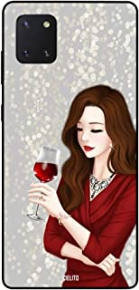 Samsung Galaxy Note10 Lite Case Cover Red Wine Girl
