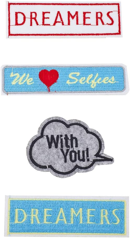 Lux Accessories cheap Dreamers We trust Love You Pack with Patches Selfies