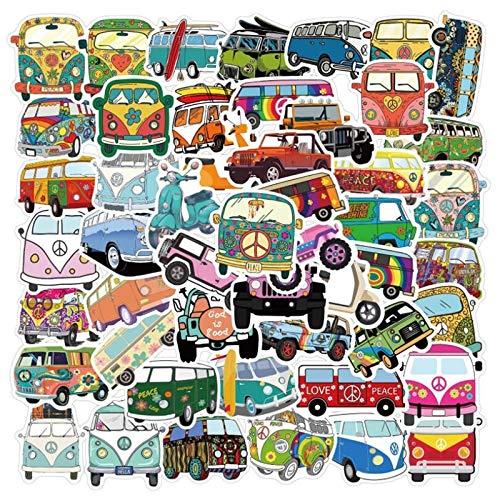 WUWEI Estilo Hip-Hop al Aire Libre autobús Dibujos Animados Graffiti Coche Casco Equipaje portátil Pegatina Impermeable 50 Piezas