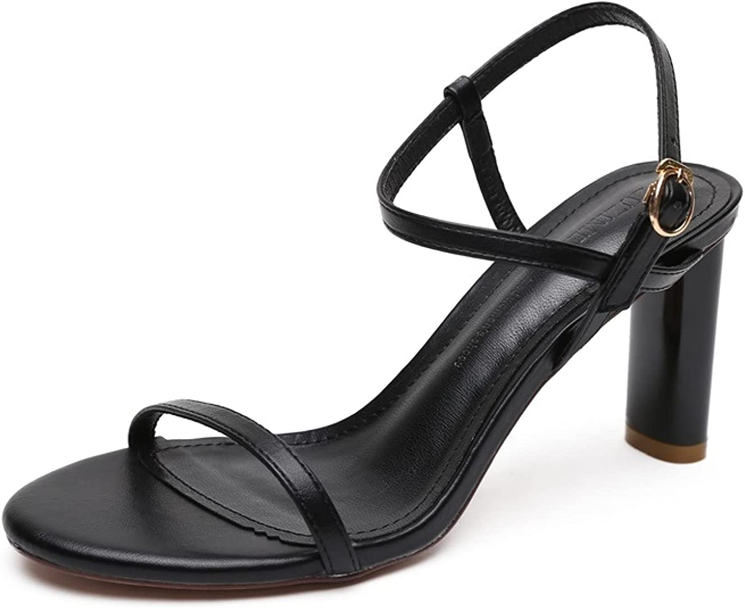 Woman Credence Sexy Ankle Strap Open Toe Heel Comfo [Alternative dealer] Sandals Chunky Buckle