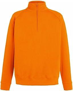 Fruit of the Loom Mens Lightweight Zip Neck Sweatshirt
